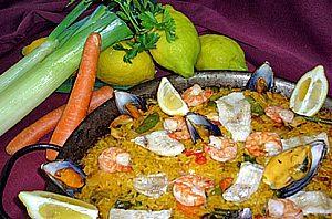 Comida típica mediterránea en el restaurante El Picador en el suroeste de Mallorca