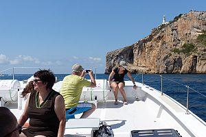 """Paseo en catamarán desde Dénia o Jávea """"3 cabos en la Costa Blanca"""" - con parada de baño"""