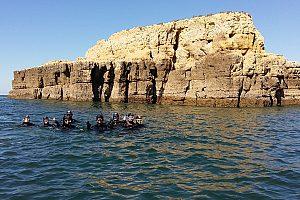 Schnorcheln im Atlantik an der Algarve