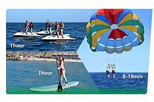 Sport Pack: moto acuática safari, paracaídas y paddle surf en Gran Canaria