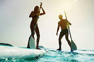 Aprende standup paddle surf en Mallorca: 2 horas de curso de SUP en Can Pastilla