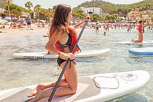 Stand Up Paddle auf Mallorca bei Camp de Mar