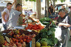 Mallorca visita del mercado Binissalem