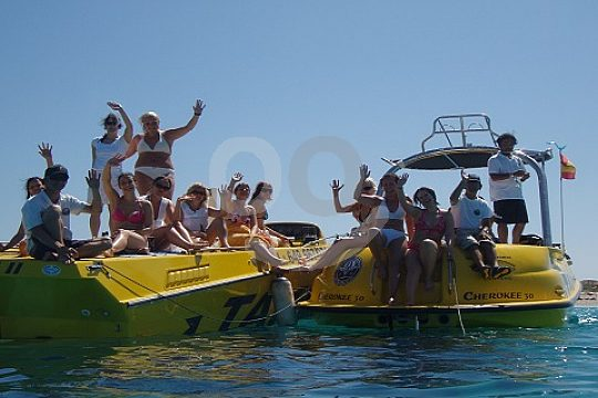 Ibiza motor boat with skipper