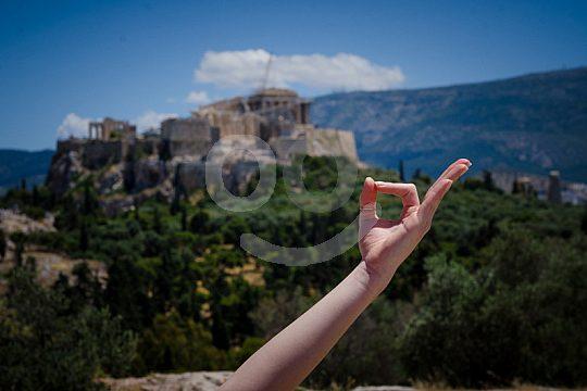 Filopappou Hill with view of Acropolis