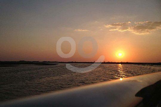 Enjoying sunset from Olhão