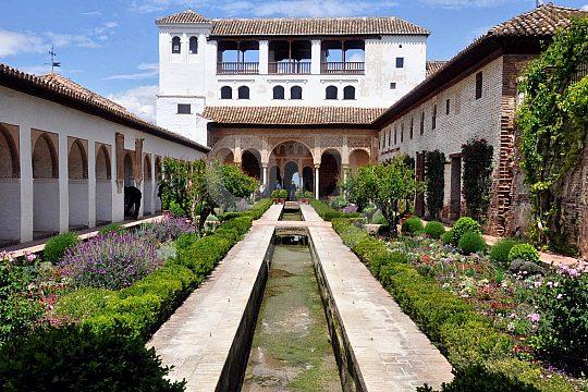 entry for the Jardines de Generalife Granada