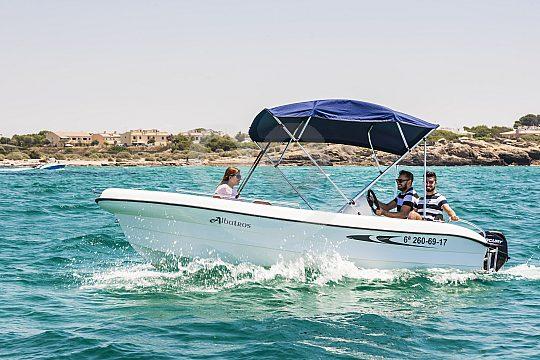 der private Bootsausflug ab Portocolom