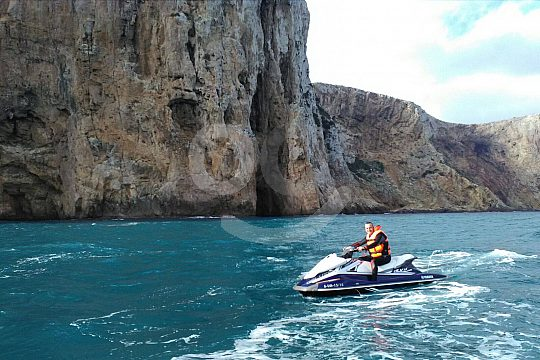 From Altea by jet ski to Sierra Gelada