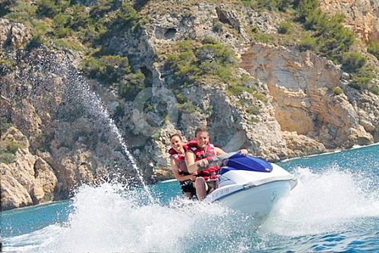 During the Altea Jetski Tour