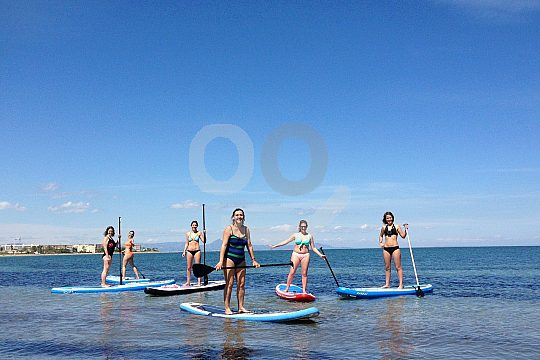 group at Stand Up Paddling
