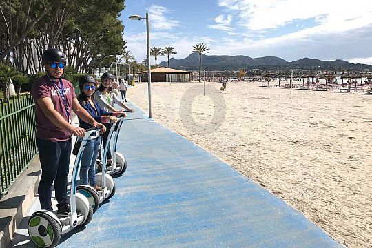 Segway riding on the promenade of Alcudia