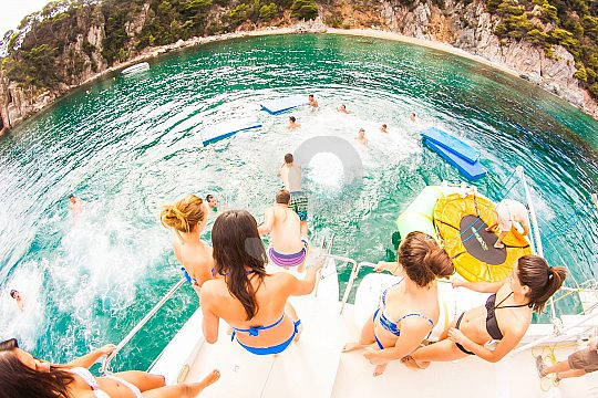 catamaran trip in Lloret de Mar with swim stop