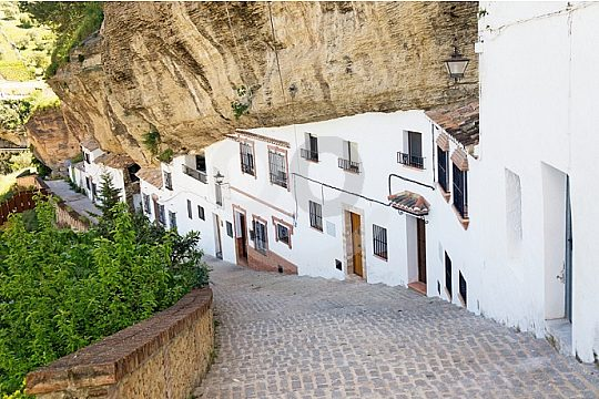 houses built in rocks in Setenil de las Bodegas