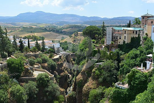 View Ronda day trip from Seville landscape