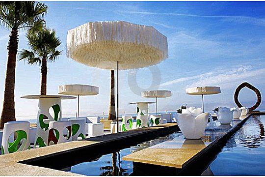 anima beach terrace at morning