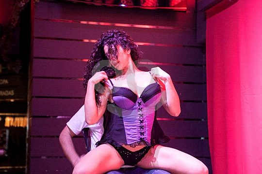 hot stage show cabaret party Málaga