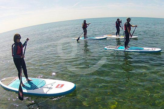 Wir umfahren den Globus beim Paddle-Surfing