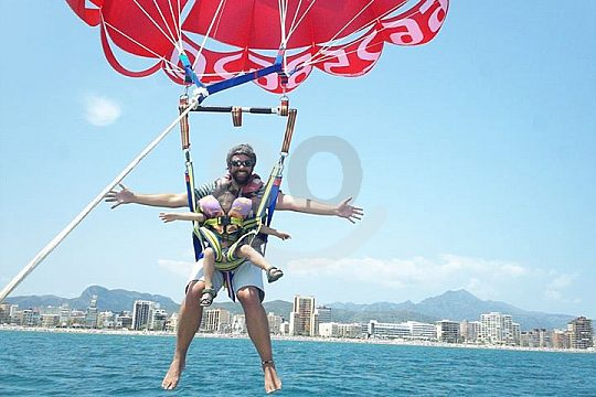parasailing in denia makes you happy