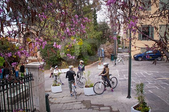 through Athens by bicycle