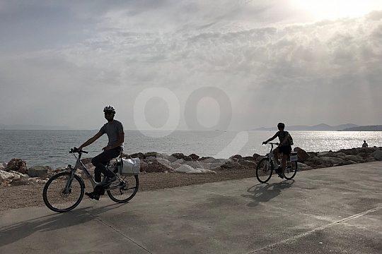 sunset e-bike tour Athens' coast