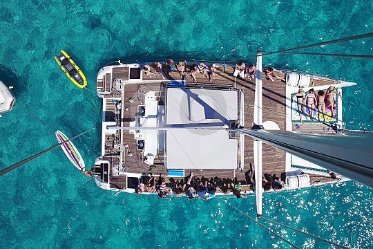 Catamaran Mallorca bird's-eye view