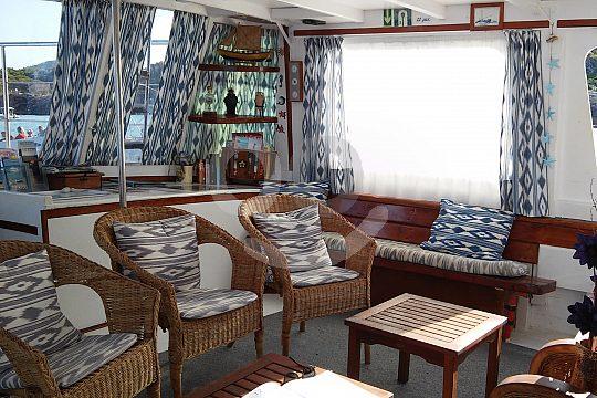 seating below deck