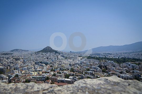 View over Greek city Athens