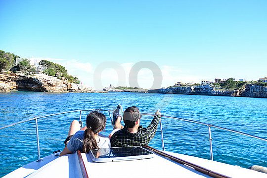 Views from the motorboat in Mallorca