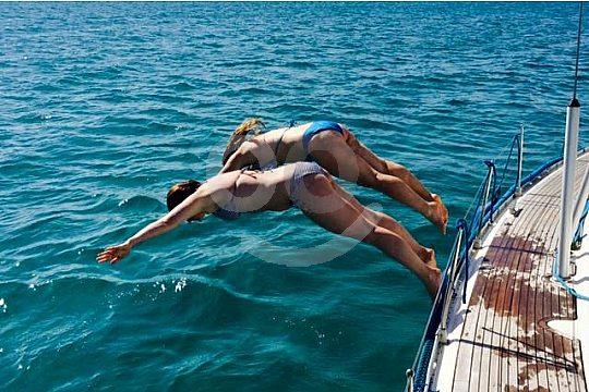 Bathing Fun Cala Major Sailing