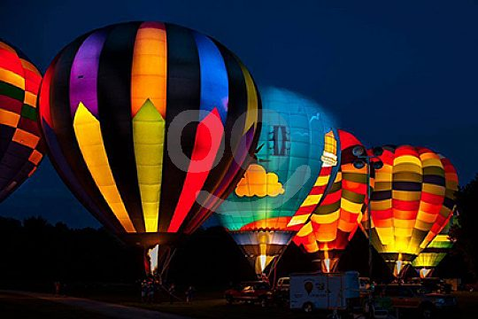 Balloon Ride by Night in Ibiza
