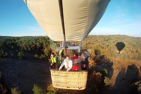 with the hot air balloon near Madrid