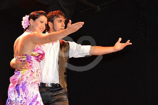 Flamenco dancer after the show