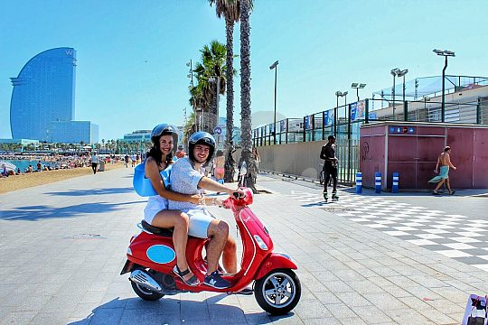 on a Barcelona scooter tour