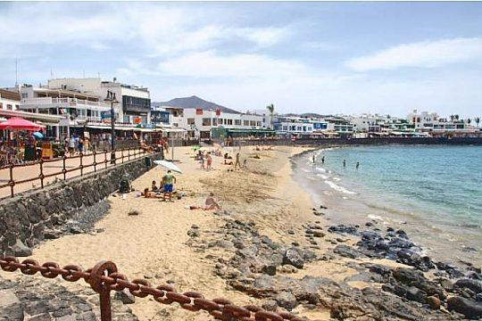 beach of Playa Blanca in Lanzarote
