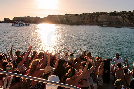 On the party boat at the Algarve coast