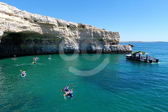 Boat trip with kayak and SUP in the Algarve