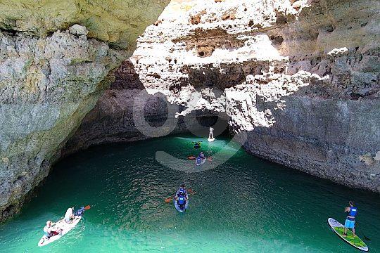 Kayak cave tour in the Algarve
