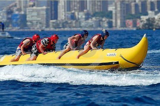 Banana boat ride in Benidorm