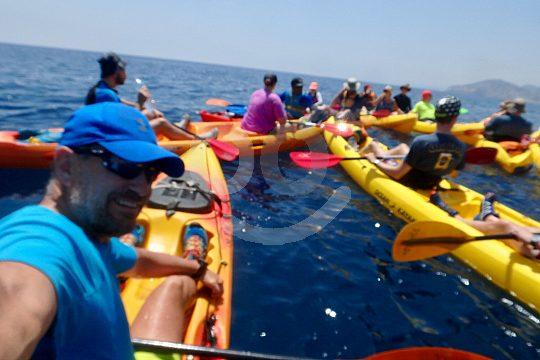 Gruppe beim Kayak fahren ab Benidorm