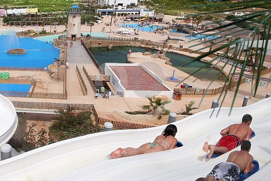 Slides at the Benidorm Water Park