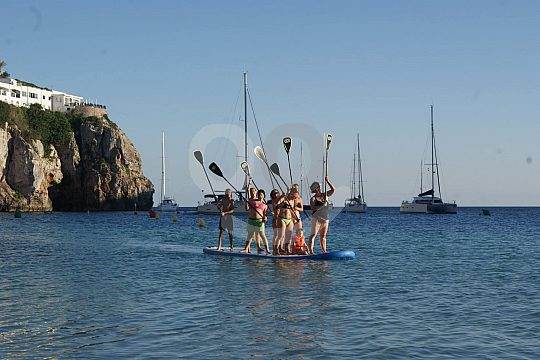Paddle surf in Menorca