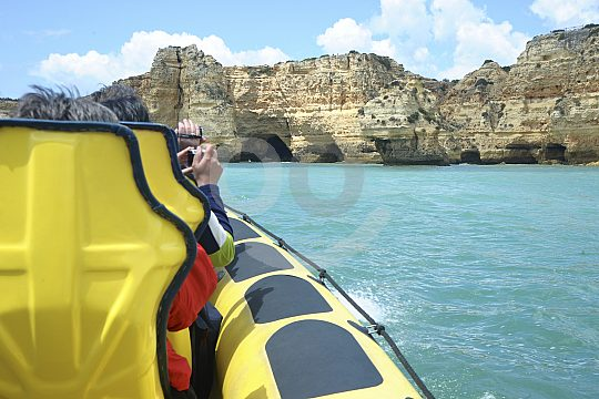 Explore the caves in the Algarve by motorboat