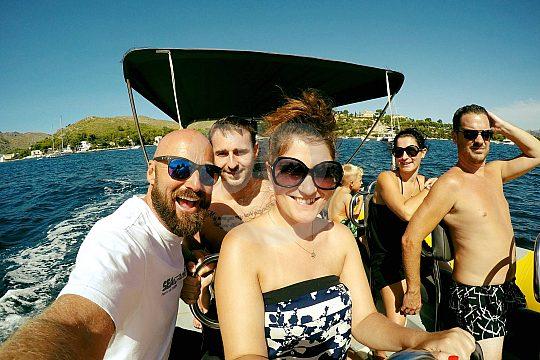 Boat trip in Mallorca is fun