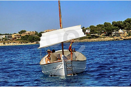the Majorcan llaut in front of Porto Colom
