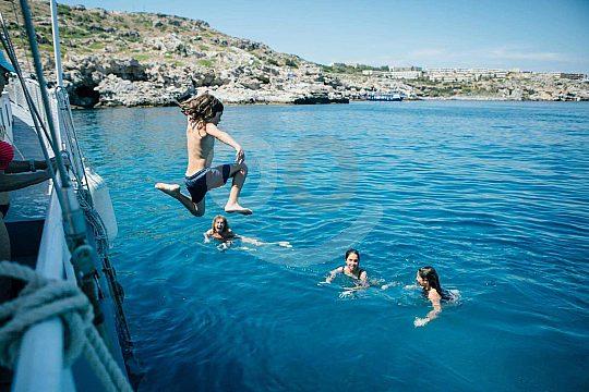 Bootstour auf Rhodos mit Badepause