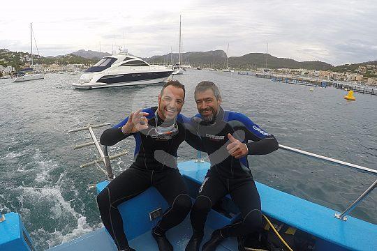 boat dive in Mallorca southwest