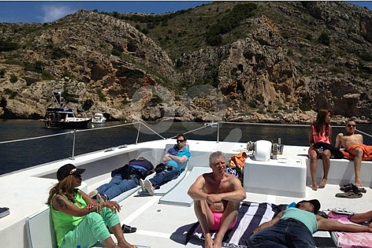 by boat to three caps on the Costa Blanca