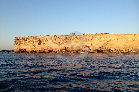boat trip in Formentera with bathing stops