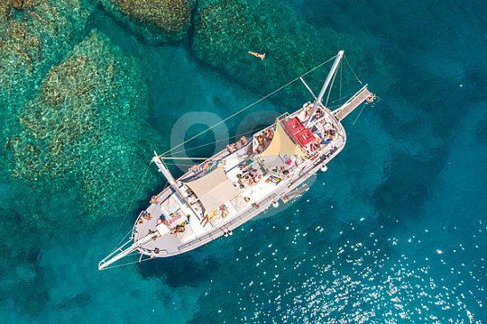 Tolle Yacht für Tagesausflug Rhodos